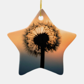 Adorno De Cerámica The Sunset and the Fragile Dandelion