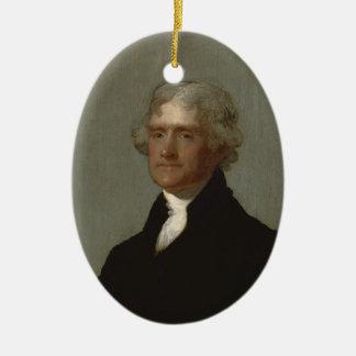 Adorno De Cerámica Thomas Jefferson