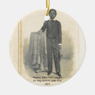 """Adorno De Cerámica Thomas """"Tom ciego"""" Wiggins, 1859"""