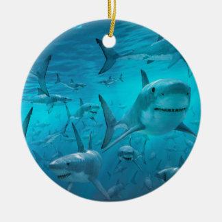 Adorno De Cerámica Tiburones