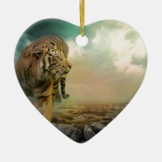 Adorno De Cerámica Tigre grande