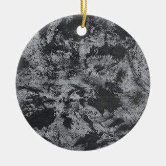 Adorno De Cerámica Tinta negra en fondo gris