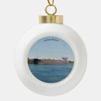 Adorno De Cerámica Tipo Bola Bola del puerto de Indiana u ornamento del copo de