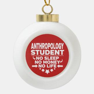 Adorno De Cerámica Tipo Bola Estudiante de la antropología ninguna vida o