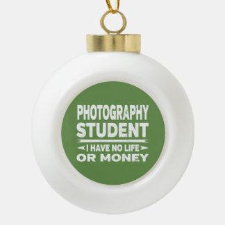 Adorno De Cerámica Tipo Bola Estudiante de la fotografía ninguna vida o dinero