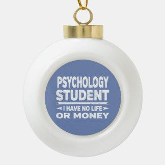 Adorno De Cerámica Tipo Bola Estudiante de la psicología ninguna vida o dinero