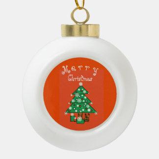 Adorno De Cerámica Tipo Bola Felices Navidad adaptables