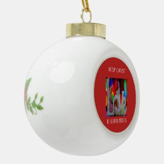 Adorno De Cerámica Tipo Bola Guarde el navidad de Cristo n con la natividad y