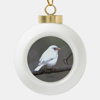 Adorno De Cerámica Tipo Bola Ornamento blanco del árbol del Bluebird