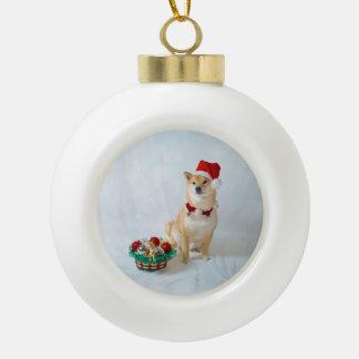 Adorno De Cerámica Tipo Bola Ornamento de cerámica de la bola de Santa Barkley