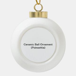 Adorno De Cerámica Tipo Bola Ornamento de cerámica de la bola (Poinsettia)