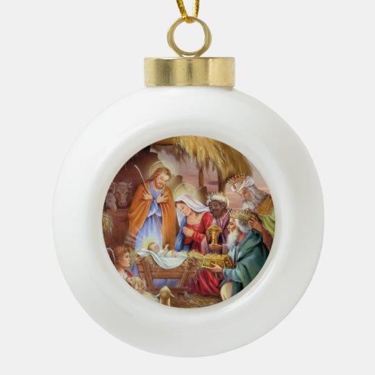 Adorno De Cerámica Tipo Bola Ornamento del navidad de Jesús del bebé