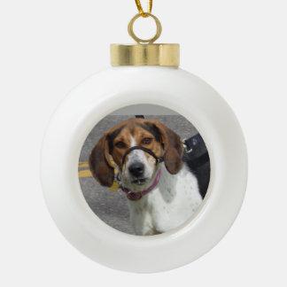 Adorno De Cerámica Tipo Bola Ornamento del perro del beagle