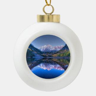 Adorno De Cerámica Tipo Bola Ornamento marrón del navidad de Colorado Belces -