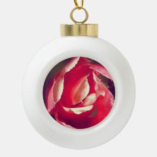 Adorno De Cerámica Tipo Bola Ornamento rosado de la flor