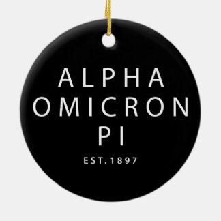 Adorno De Cerámica Tipo moderno alfa de Omicron pi