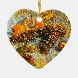 Adorno De Cerámica Todavía vida con las manzanas, peras, uvas - Van