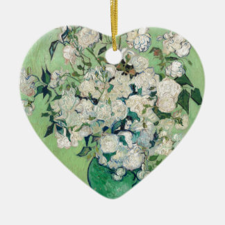Adorno De Cerámica Todavía vida: Florero con los rosas - Vincent van