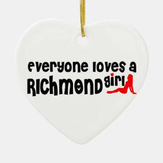Adorno De Cerámica Todos ama a un chica de la colina de Richmond