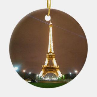Adorno De Cerámica Torre Eiffel París Francia - tarde de la primavera