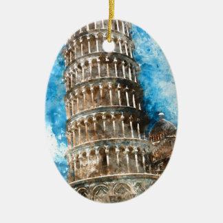 Adorno De Cerámica Torre inclinada de Pisa en Italia