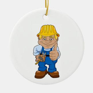 Adorno De Cerámica Trabajador con el casco