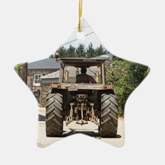 Adorno De Cerámica Tractor gris en el EL Camino, España