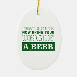 Adorno De Cerámica Traiga a tío una cerveza