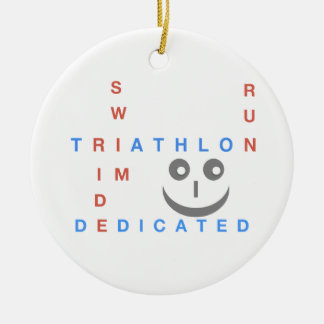 Adorno De Cerámica Triathlon soy dedicado