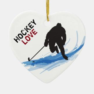 Adorno De Cerámica Un jugador de hockey en el hielo