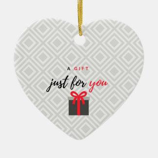 Adorno De Cerámica Un regalo para usted (versión roja)