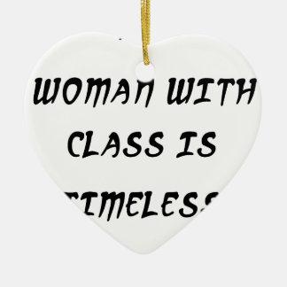 Adorno De Cerámica una mujer con la clase es intemporal