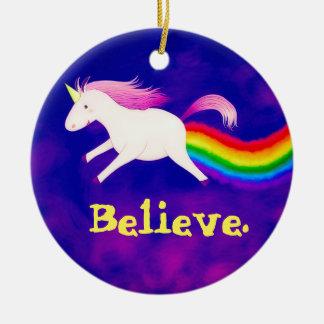 Adorno De Cerámica Unicornio divertido del vuelo Farting un arco iris