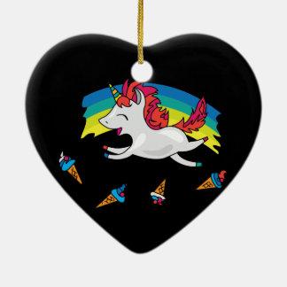 Adorno De Cerámica Unicornio lindo con el ejemplo fresco del arco