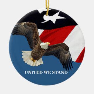 Adorno De Cerámica Unido nosotros Stand/USA