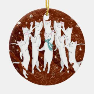 Adorno De Cerámica Uno-Salto de diez gatos… Árbol de navidad