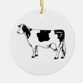 Adorno De Cerámica Vaca