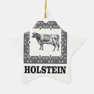 Adorno De Cerámica Vaca de Holstein
