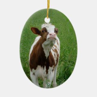 Adorno De Cerámica Vaca de leche de la lechería en la granja