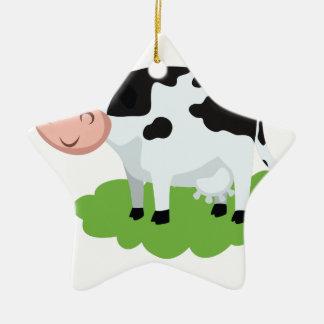 Adorno De Cerámica vaca de ordeño en el jardín