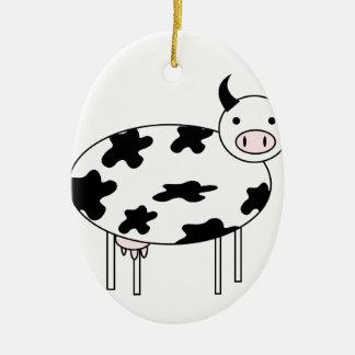 Adorno De Cerámica Vaca linda
