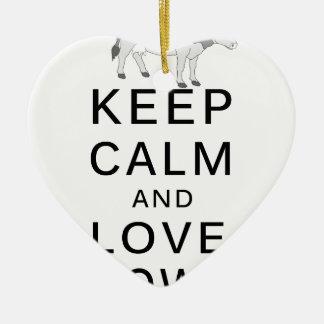 Adorno De Cerámica vacas del amor