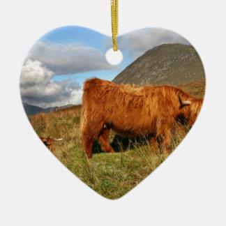 Adorno De Cerámica Vacas escocesas de la montaña - Escocia