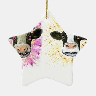 Adorno De Cerámica Vacas locas