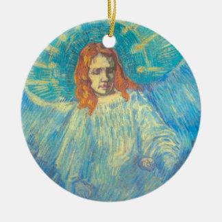 Adorno De Cerámica Van Gogh; Media figura de un ángel, arte del