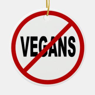 Adorno De Cerámica Veganos del odio Vegans/No no prohibidos la