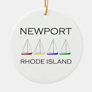 Adorno De Cerámica Veleros de Newport Rhode Island