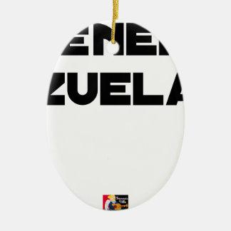 Adorno De Cerámica VÉNER-ZUELA - Juegos de palabras - Francois Ville