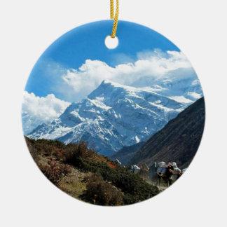 Adorno De Cerámica Verano del viaje de Himalaya el monte Everest la