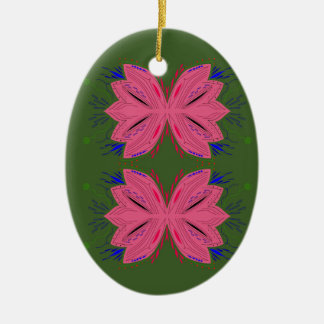 Adorno De Cerámica Verde del rosa de los elementos del diseño
